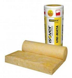 mata z wełny szklanej do izolacji termicznej dachów skośnych i poddaszy Isover Uni-Mata