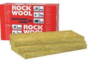 płyty z wełny skalnej do izolacji akustycznej ścian działowych izolacja ścian Rockwool ROCKSONIC SUPER